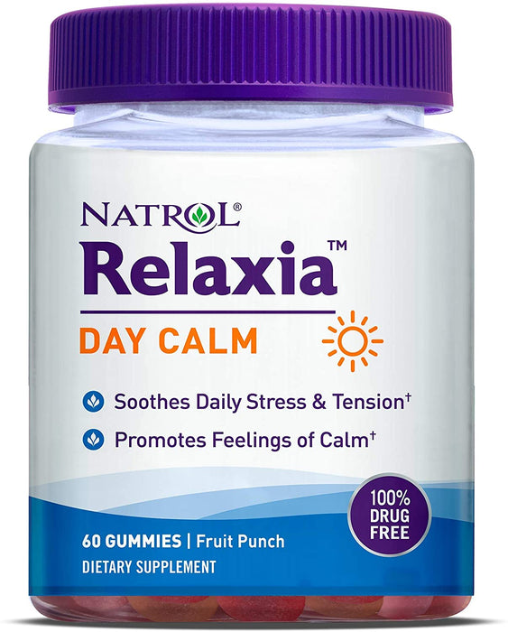Natrol - Relaxia Day Calm, 60 Gummies, Fruit Punch Flavour + 5-HTP