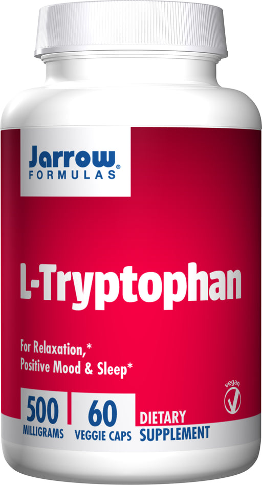 Jarrow Formulas - L-Tryptophan, 500mg 60VCaps, For Relaxation, Mood & Sleep