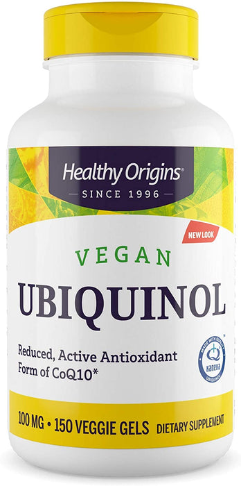 Healthy Origins - VEGAN UBIQUINOL, 100MG (ACTIVE FORM OF COQ10)