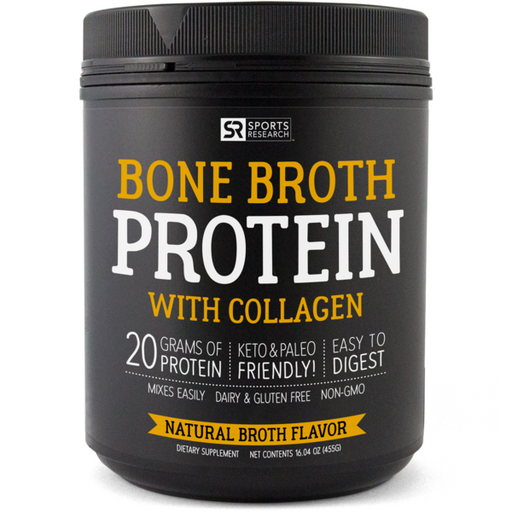 Sports Research - UNFLAVOURED BONE BROTH PROTEIN, 455g (16.04 oz)