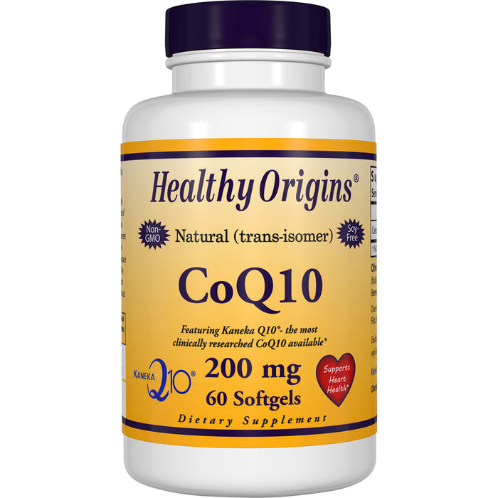Healthy Origins - COQ10 (KANEKA Q10™), 200MG, 60 GELS