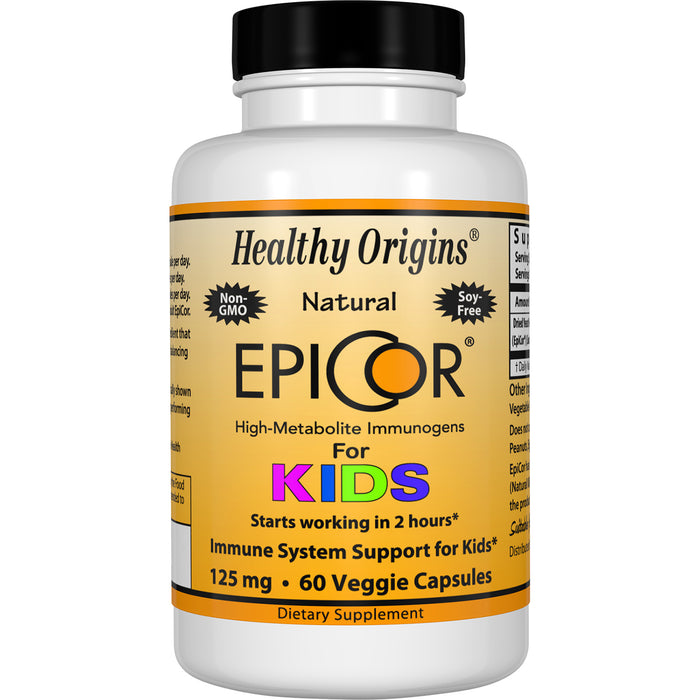 Healthy Origins - EPICOR (IMMUNE PROTECTION) FOR KIDS, 125MG, 60 VCAPS