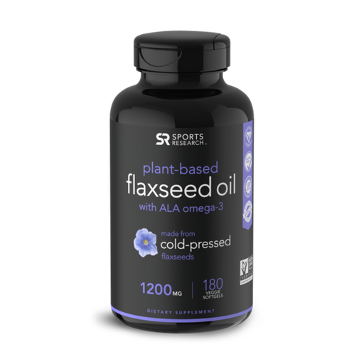 Sports Research - Flaxseed Oil, 1200mg, 180 Veggie Softgels