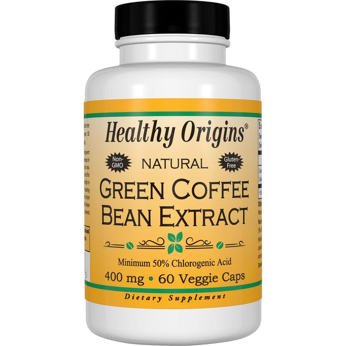 Healthy Origins - GREEN COFFEE BEAN EXTRACT, 400MG, 60 VCAPS