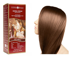 Surya Brasil Henna Cream Kit - Light Brown 70 ml, Natural Hair Colour