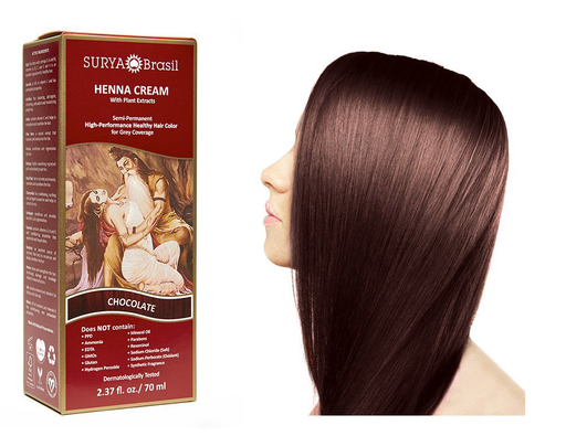 Surya Brasil Henna Cream Kit - Chocolate 70 ml, Natural Hair Colour
