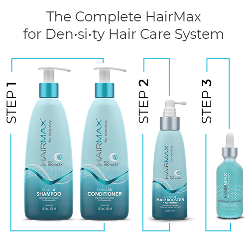 Hairmax - Density Hair Care System (4 Piece) Hair Regrowth Shampoo, Conditioner, Booster & Scalp Protector