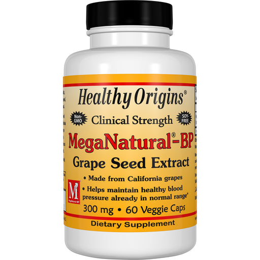 Healthy Origins - MEGANATURAL® BP-GRAPE SEED EXTRACT, 3 Strengths & Sizes