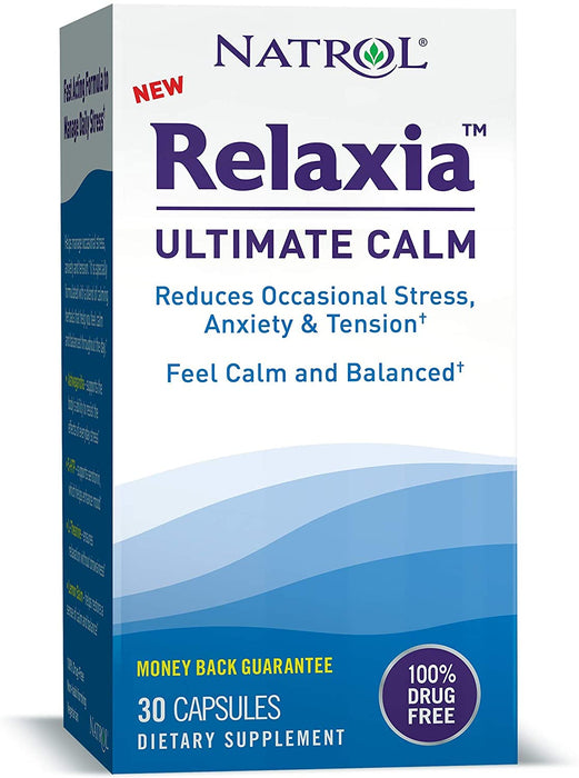 Natrol - Relaxia Ultimate Calm, Stress Relief, 30 Caps + 5-HTP