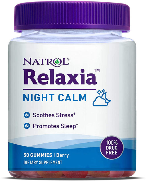 Natrol - Relaxia Night Calm, 60 Gummies, Berry Flavour + 5-HTP