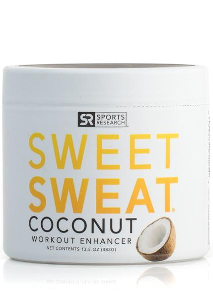 Sports Research - Sweet Sweat Jar, Coconut Scent, Workout Enhancer, 383g (13.5 oz)