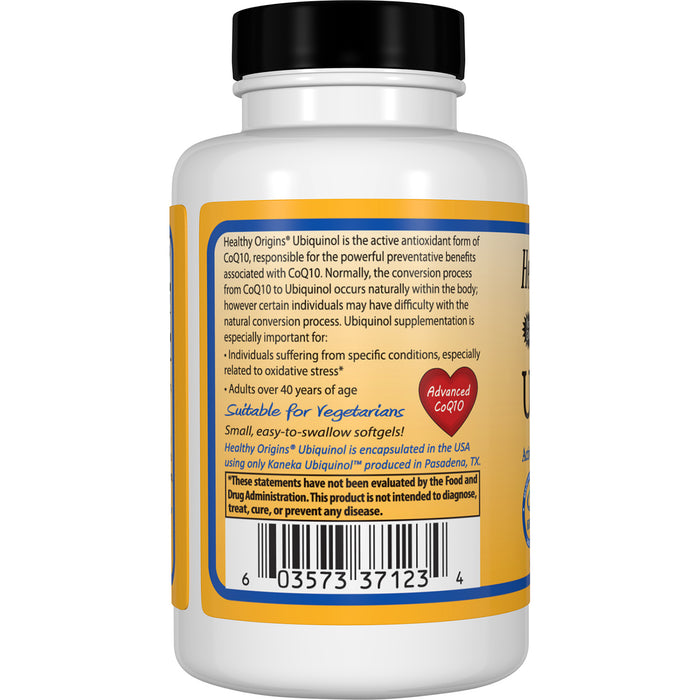 Healthy Origins - UBIQUINOL, 100MG, 30 VEGGIE GELS