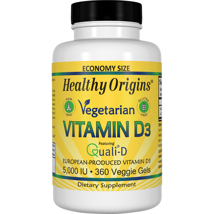 Healthy Origins - VITAMIN D3, 5,000 IU (VEGETARIAN), 360 VGELS
