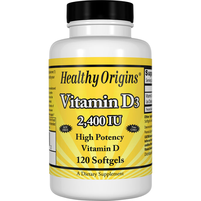 Healthy Origins - VITAMIN D3 GELS, 2,400 IU (LANOLIN), 120 GELS