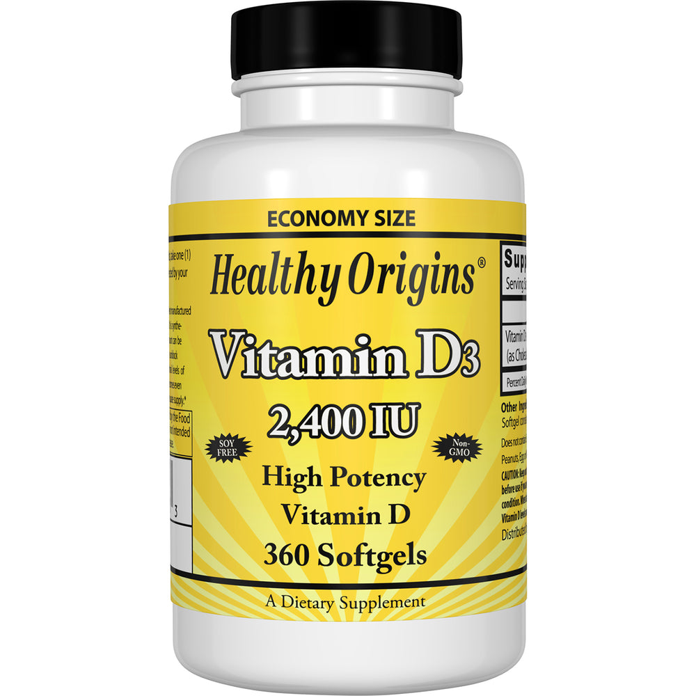 Healthy Origins - VITAMIN D3 GELS, 2,400 IU (LANOLIN), 360 GELS