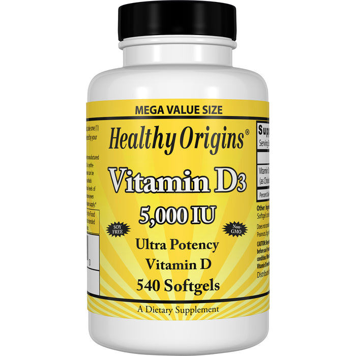 Healthy Origins - VITAMIN D3 GELS, 18 DIFFERENT SIZES & STRENGTHS