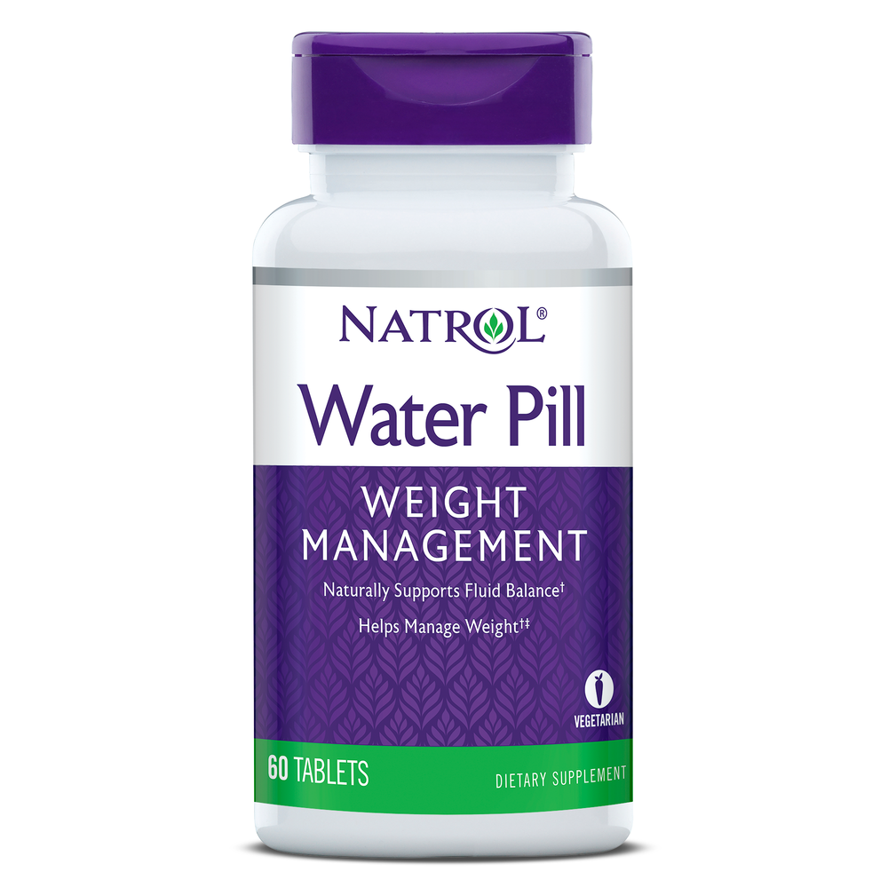 Natrol - Water Pill, Weight Management, 60 Tablets
