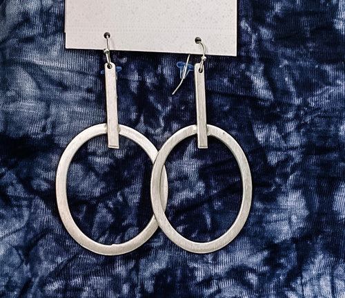 Elongated Hoops - gold or silver