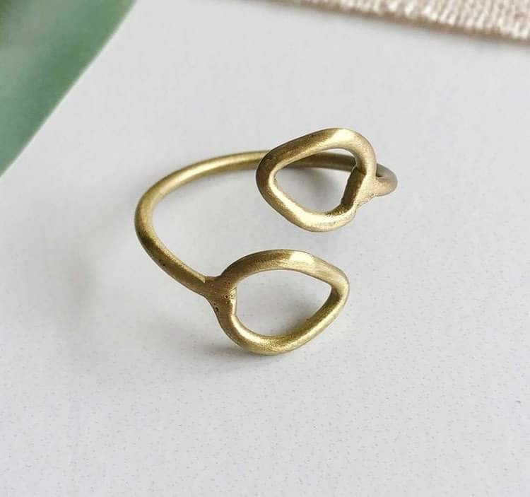 Layered Leaf Ring