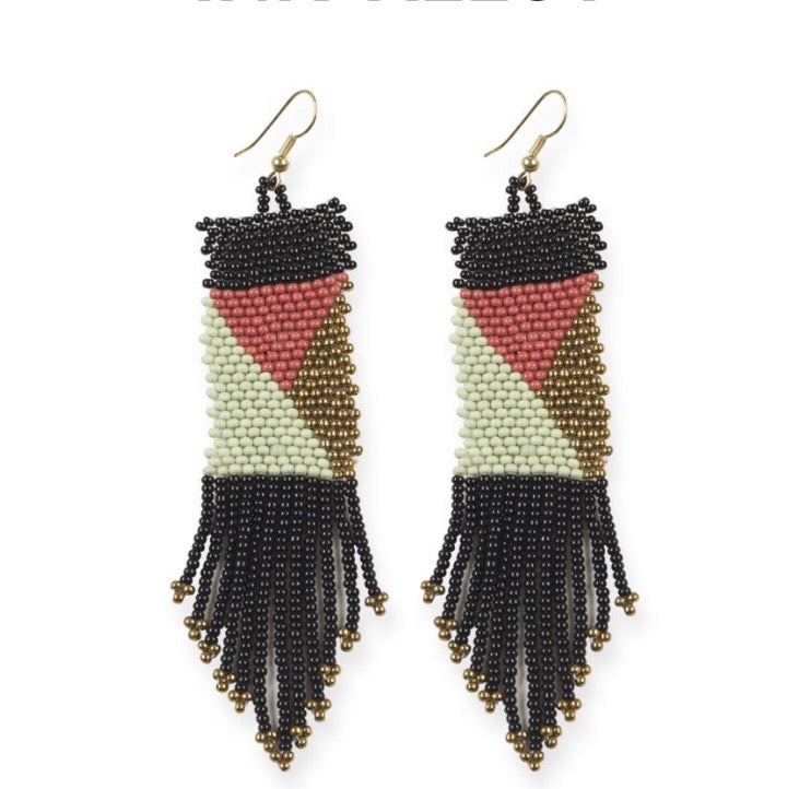 Geo Seed Bead Earrings