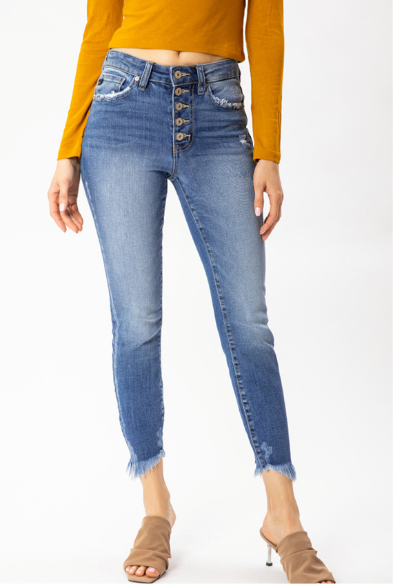 Gemma Button Fly Jeans
