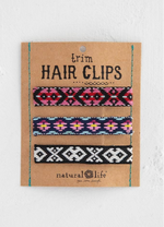Trim Hair Clip Set - black