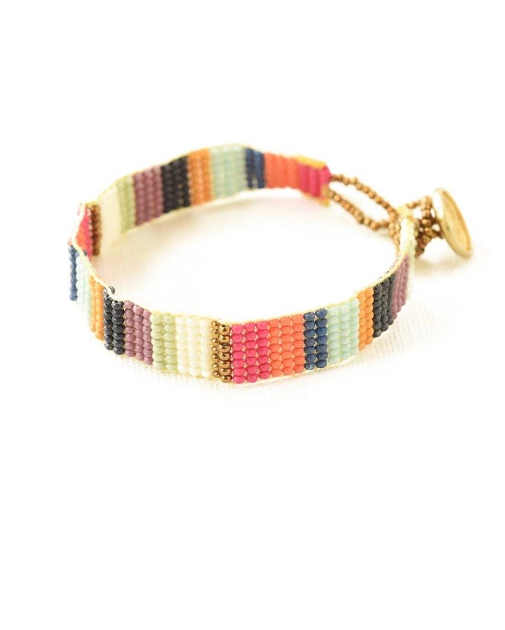 Multi color bead bracelet