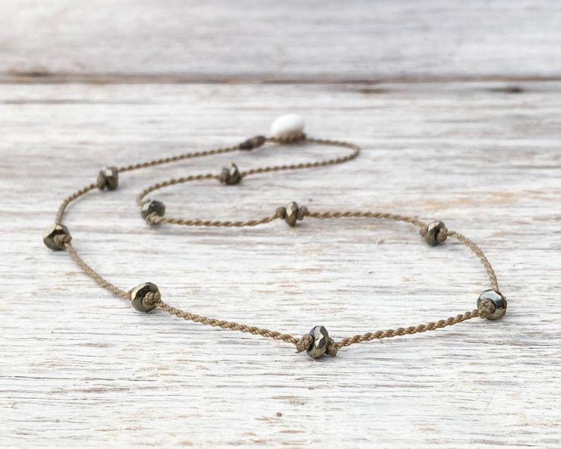 Princess Choker - pyrite