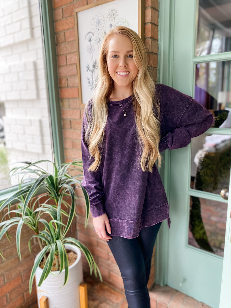 Mineral Wash Cozy Tunic Scoop - regular & plus!!