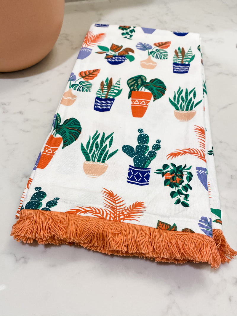 Potted Plants Towel - Set of 2