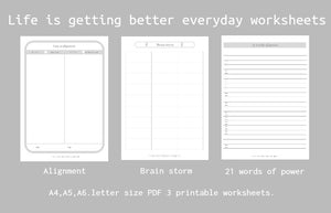 Life is getting better everyday worksheet(Clear your mind and soul)3pages PDF