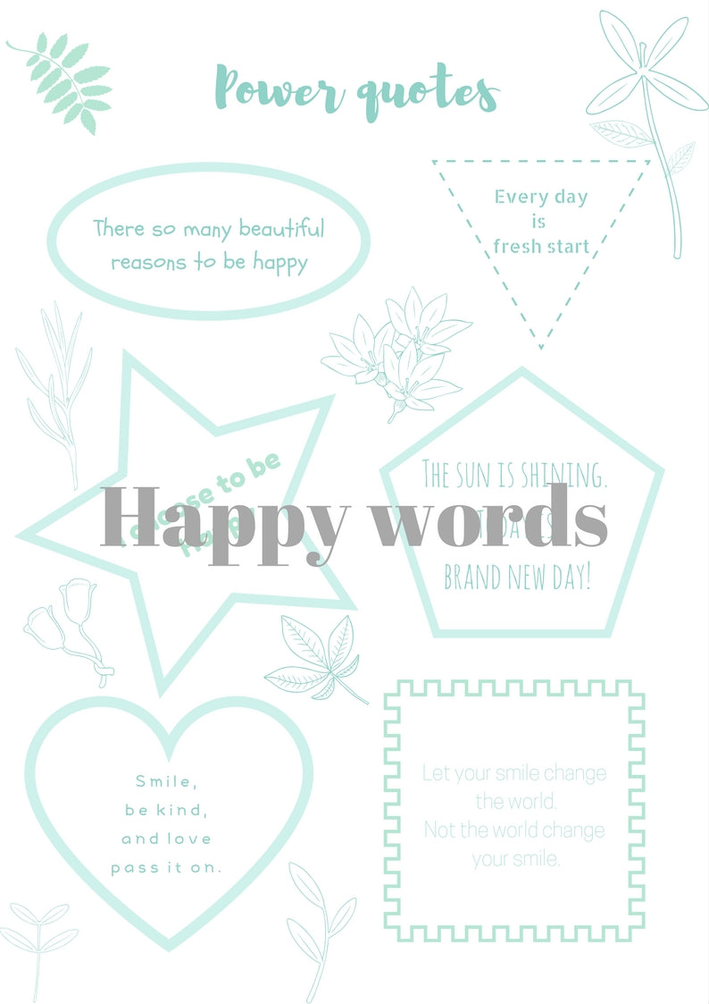 Happy words (English)