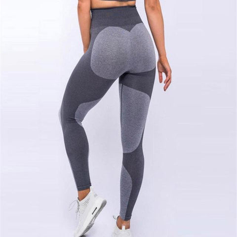 Seamless Heart Shape Leggings- Shadow Gray-Leggings-Adapt X Lifestyle