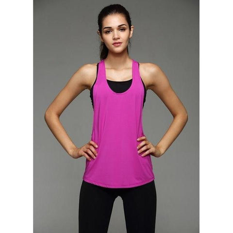 Sleeveless Flow Top - Purple-Tank Tops-Adapt X Lifestyle