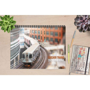 2021 Chicago CTA Train Photography Wall Calendar
