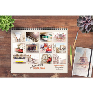 2021 Paris Photography Wall Calendar