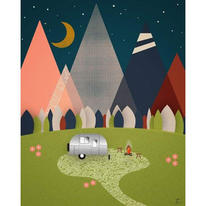 Airstream Camper Illustration | Camping Wall Decor Tracey Capone Photography