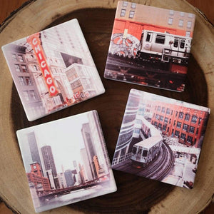 Around Chicago Four Coaster Set Tracey Capone Photography