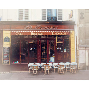 Bistro In Montmartre Paris | Photography Wall Art Print Tracey Capone Photography