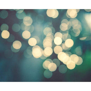 Bokeh No. 3 | Teal & Gold Abstract - Tracey Capone Photography