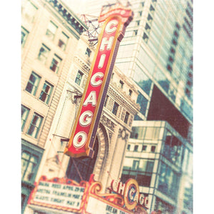Broad Shoulders | Chicago Theater Sign - Tracey Capone Photography