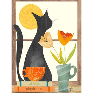 Cat Illustration | Cozy Floral Home Decor Tracey Capone Photography