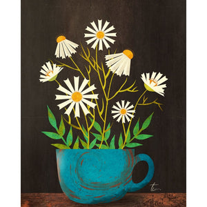 Chamomile Tea Flower Illustration | Colorful Kitchen Decor Tracey Capone Photography