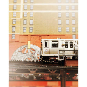 5175 | Chicago L Train & Mural - Tracey Capone Photography