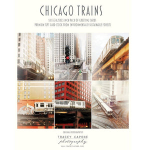 Chicago Trains | Blank Note Cards Tracey Capone Photography