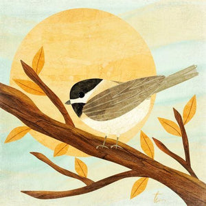 Chickadee Illustration | Pastel Wall Art | Nature Inspired Home Decor