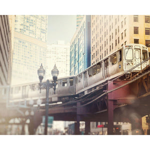 Color Block | Chicago Loop Train-Tracey Capone Photography