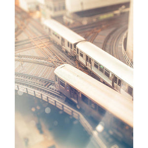 Curves | CTA Train Photograph-Tracey Capone Photography