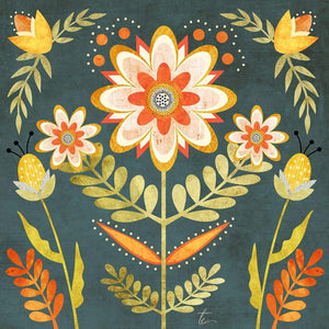 Folk Art Floral Illustration | Colorful Wall Art Print Tracey Capone Photography