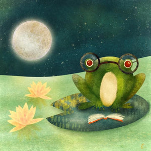 Frog Illustration | Kids Room Artwork | Lily Pad art